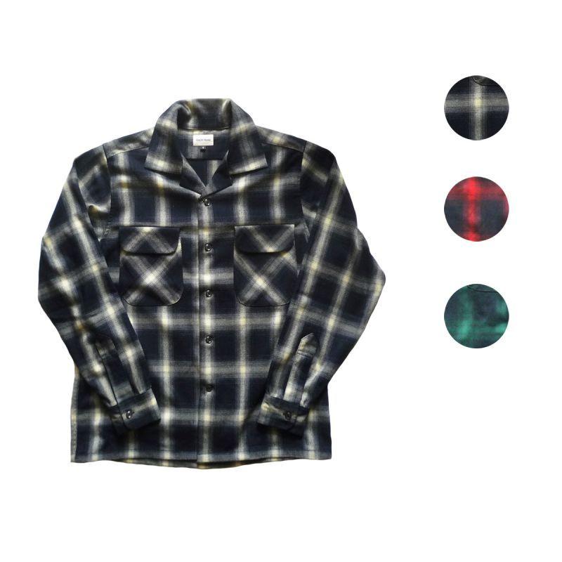 画像1: BACK HEAD バックヘッド オンブレーチェックシャツ 全3色 メンズ (1)