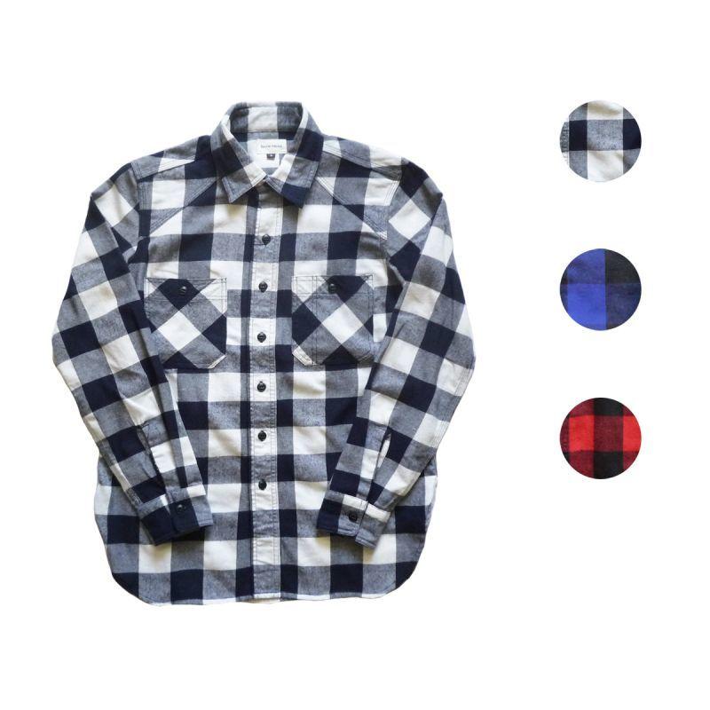 画像1: 【セール 60%OFF】BACK HEAD バックヘッド ブロックチェックシャツ 全3色 メンズ (1)