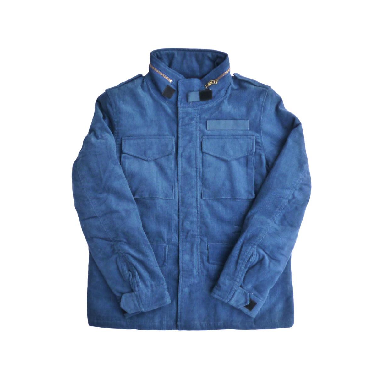 画像1: 【セール 77%OFF】BACK HEAD バックヘッド コーデュロイボアM-65ジャケット ネイビー メンズ (1)