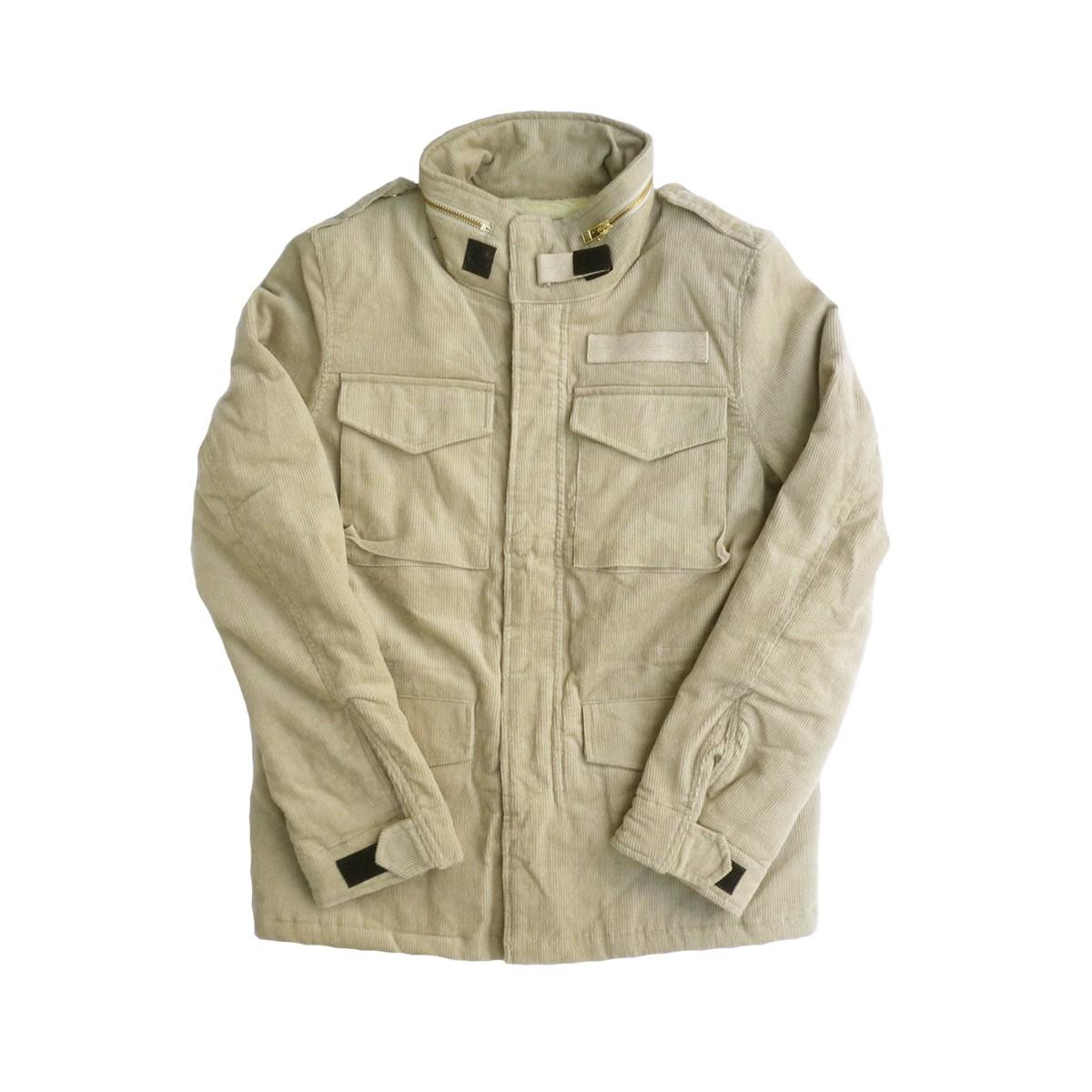 画像1: 【セール 77%OFF】BACK HEAD バックヘッド コーデュロイボアM-65ジャケット ベージュ メンズ (1)