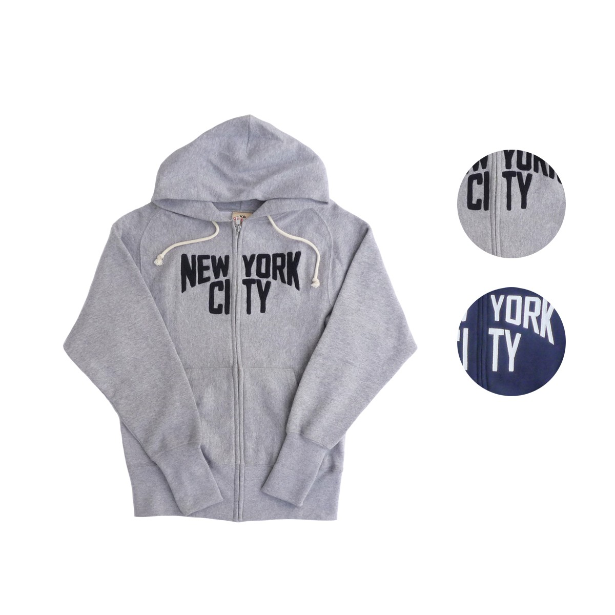 画像1: Goodwear グッドウェア APPLIQUE ZIP HOODIE NEW YORK CITY 全2色 メンズ/レディース (1)