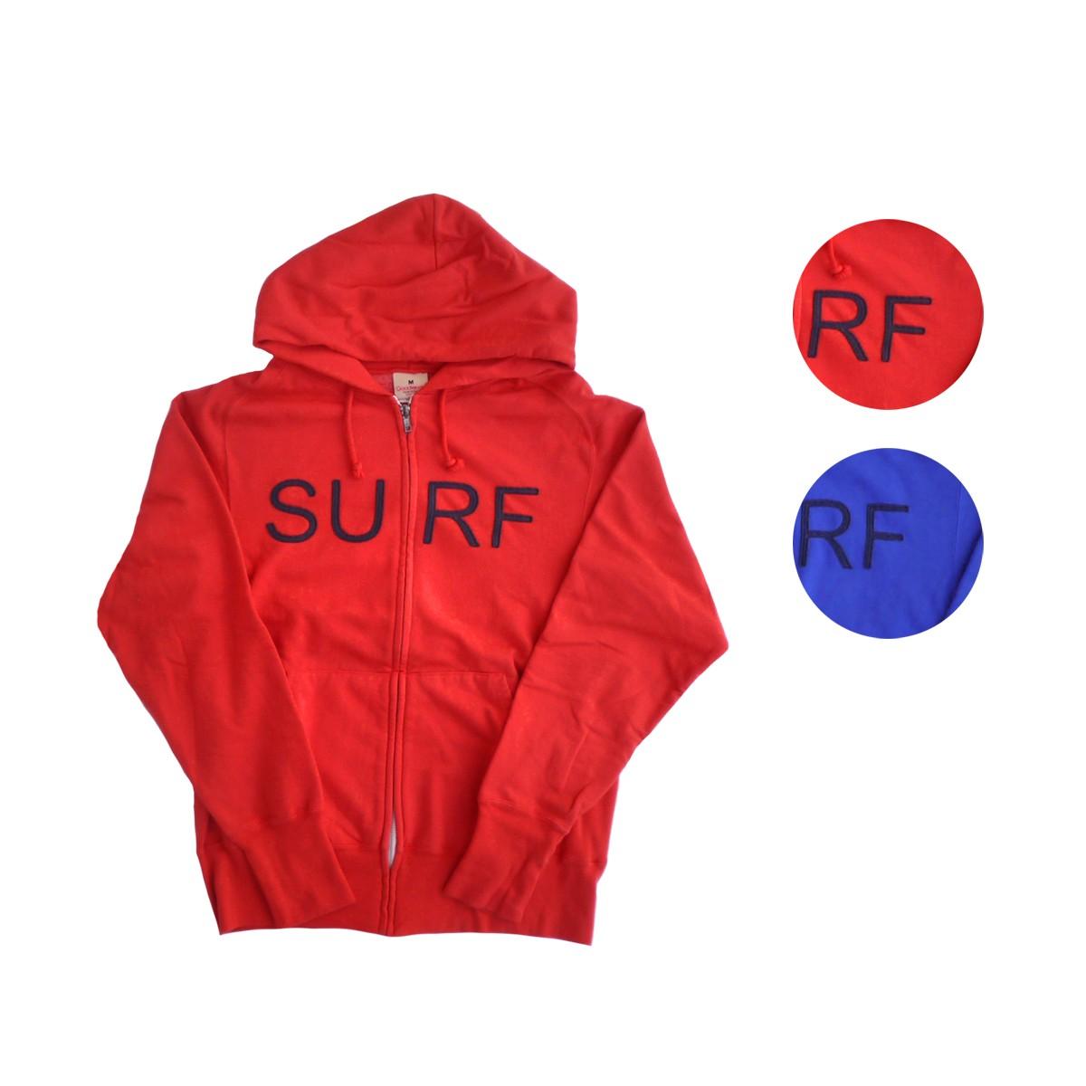 画像1: Goodwear グッドウェア APPLIQUE ZIP HOODIE SURF 全2色 メンズ/レディース (1)