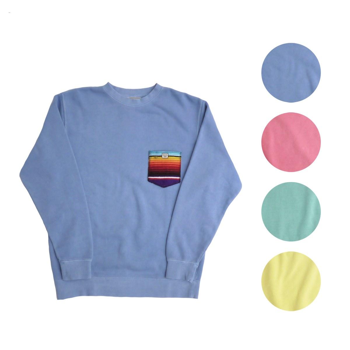 画像1: MALIBU FARM マリブファーム RUG POCKET PIGMENT SWEAT 全4色 メンズ/レディース (1)