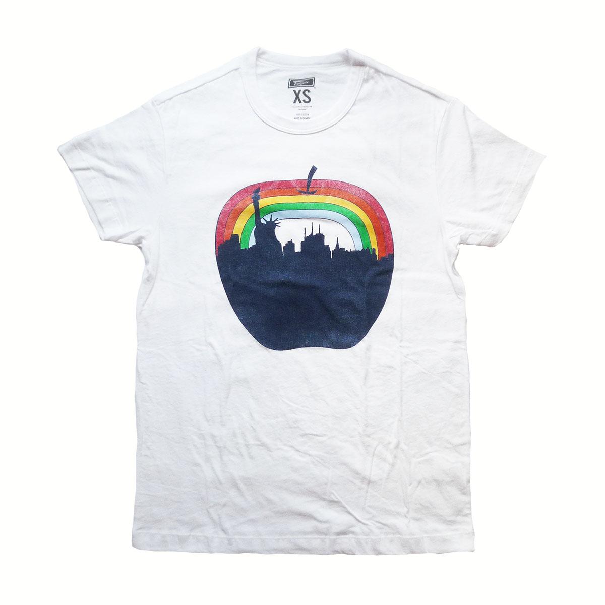 画像1: 【セール 60%OFF】TAILGATE テイルゲート NYC APPLE Tシャツ ホワイト メンズ/レディース (1)