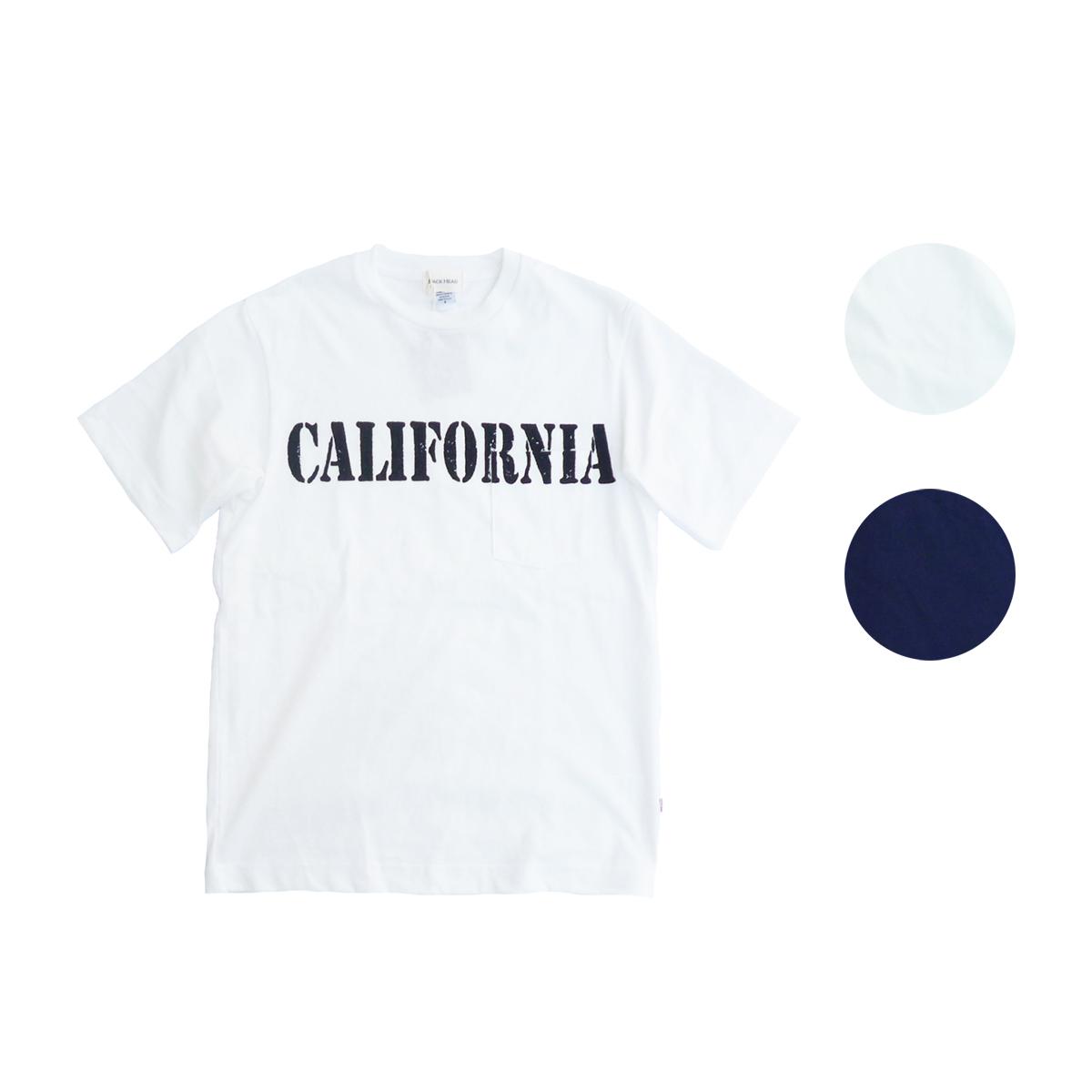 画像1: BACK HEAD バックヘッド STAMP POCKET TEE CALIFORNIA 全2色 メンズ/レディース (1)