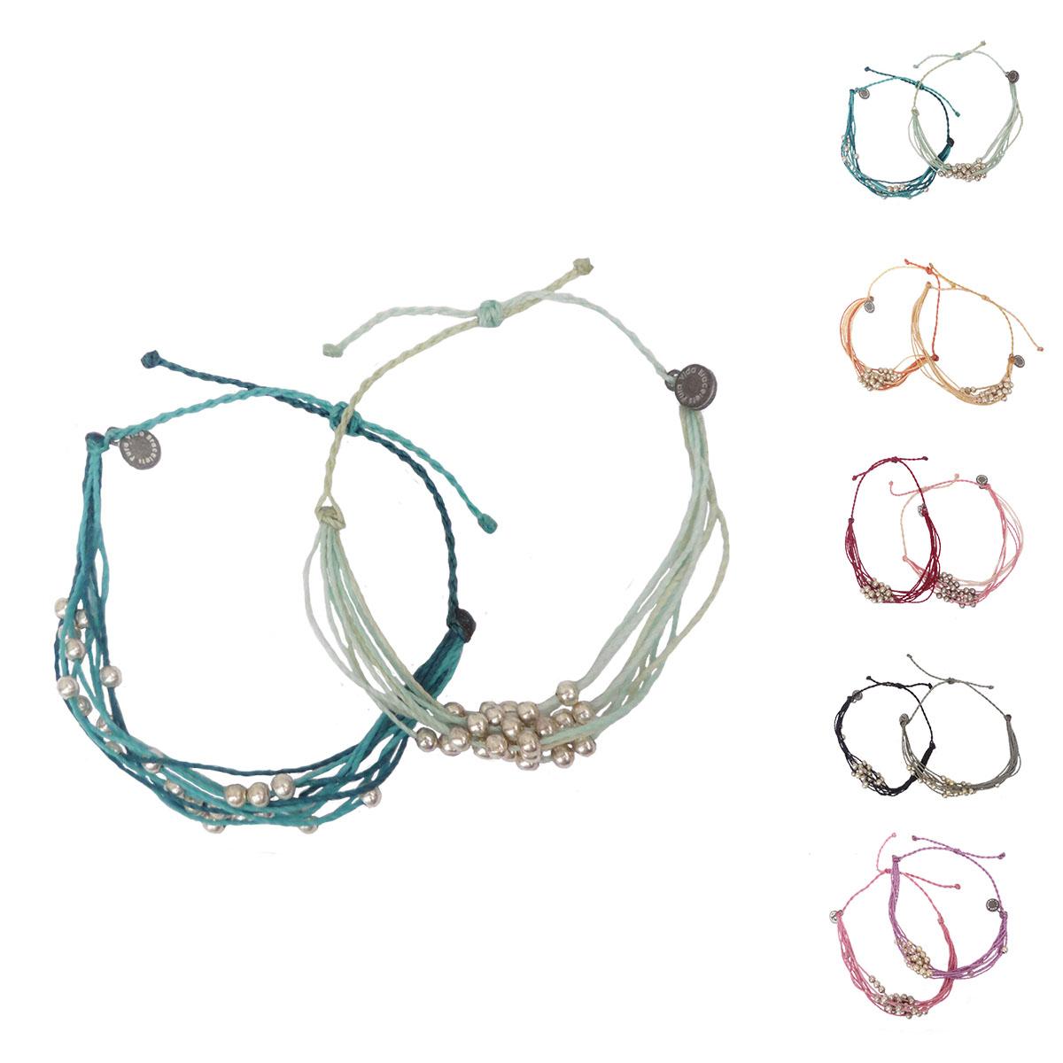 画像1: 【セール 80%OFF】puravida bracelets プラヴィダブレスレット プラチナ×2本セット レディース/メンズ (1)