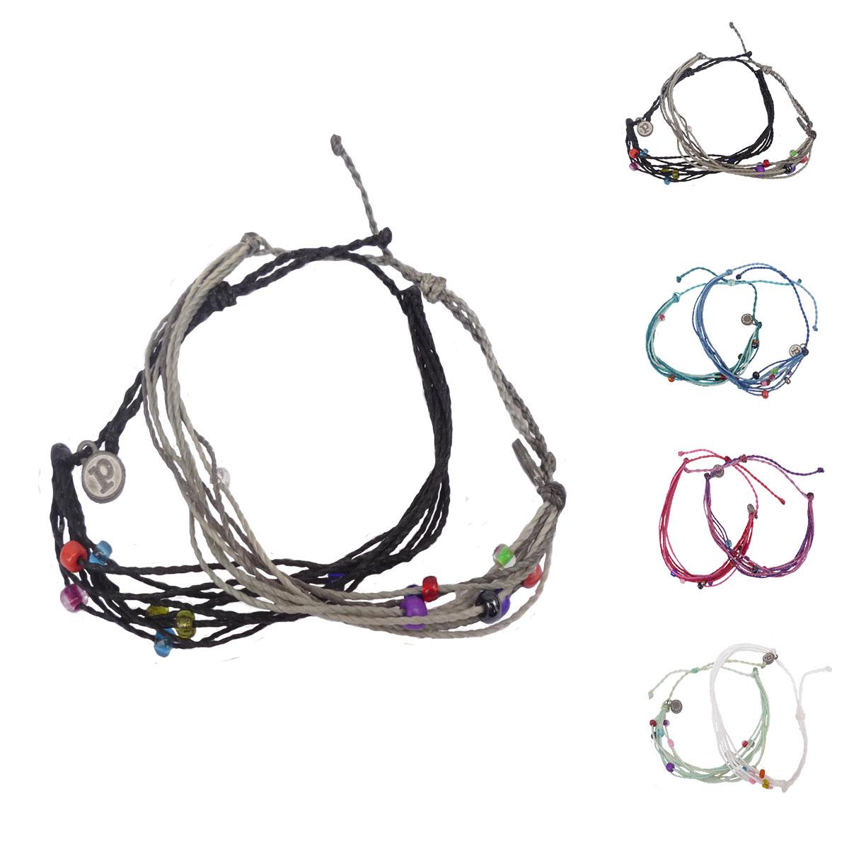 画像1: puravida bracelets プラヴィダブレスレット ビーズ×2本セット レディース/メンズ (1)