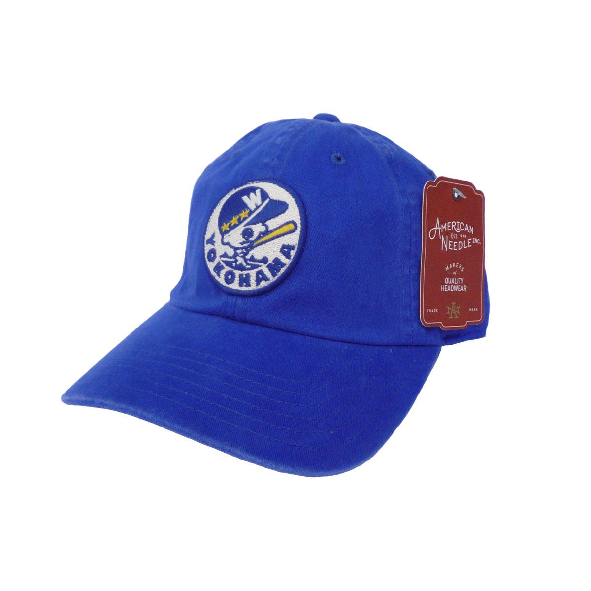 画像1: AMERICAN NEEDLE アメリカンニードル NIPPON LEAGUE BASEBALL ARCHIVE CAP 横浜大洋ホエールズ BLUE メンズ/レディース (1)