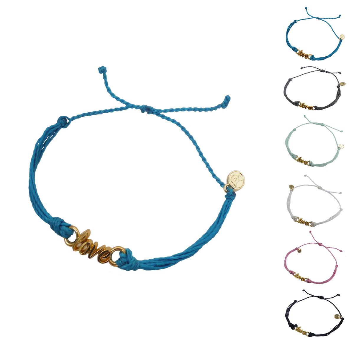 画像1: 【セール 80%OFF】puravida bracelets プラヴィダブレスレット GOLD WORD LOVE 全6色 レディース/メンズ (1)