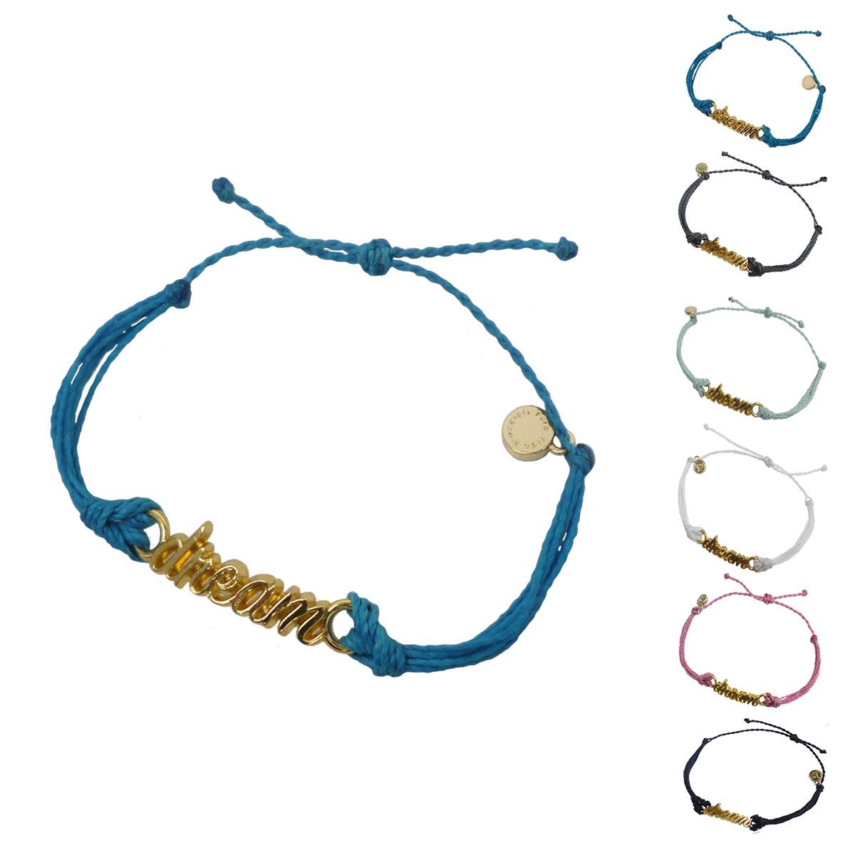 画像1: puravida bracelets プラヴィダブレスレット GOLD WORD DREAM 全6色 レディース/メンズ (1)