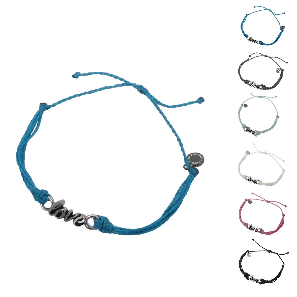 画像1: 【セール 80%OFF】puravida bracelets プラヴィダブレスレット SILVER WORD LOVE 全6色 レディース/メンズ (1)