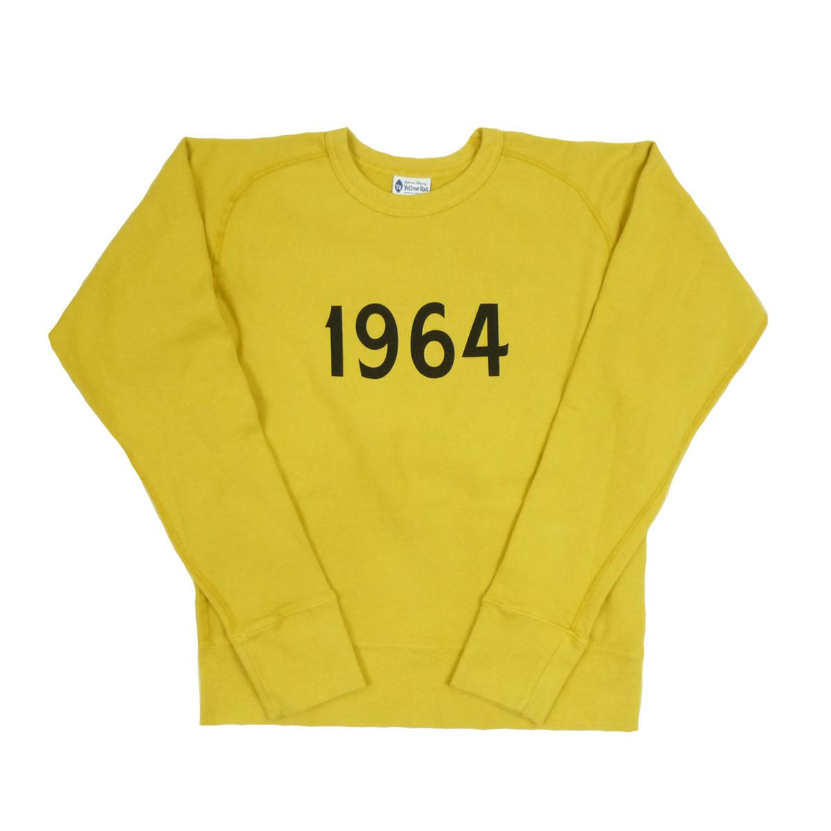 画像1: Yellow Rat イエローラット CREW SWEAT 1964 YELLOW メンズ/レディース (1)