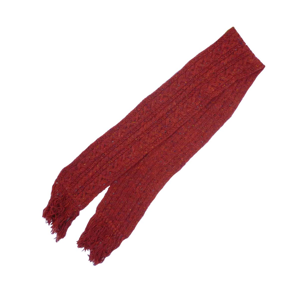 画像1: HIGHLAND2000 ハイランド2000 ケーブル編みカラーネップマフラー RED メンズ/レディース (1)
