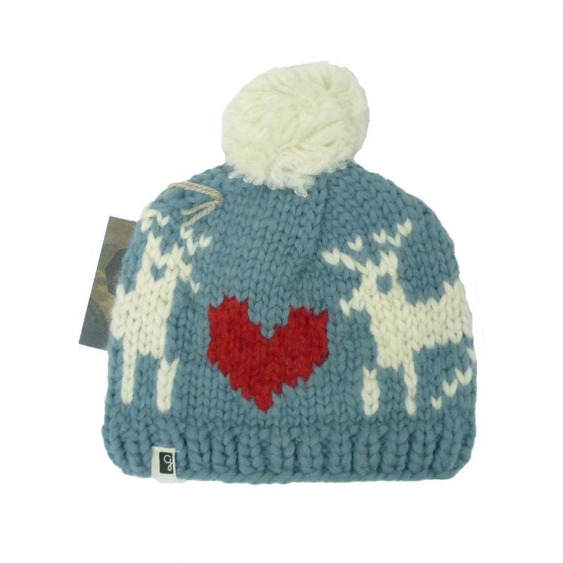 画像1: 【50%OFF】GRANTED グランテッド KNIT CAP DEER LOVE HAT メンズ/レディース COUNTRY BLUE (1)