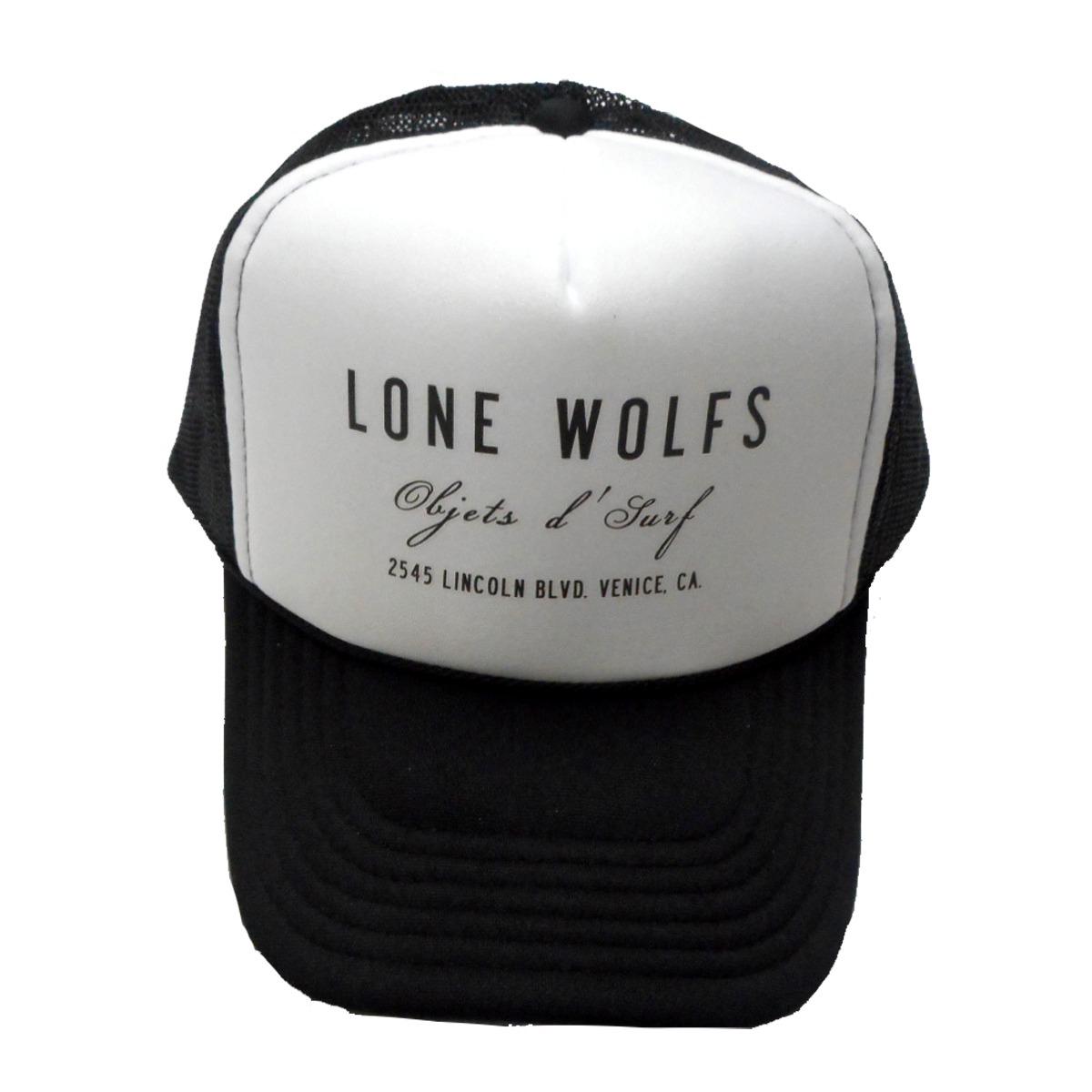 画像1: 【30%OFF】LONE WOLFS ローンウルフズ メッシュCAP BLKXWHT メンズ/レディース (1)