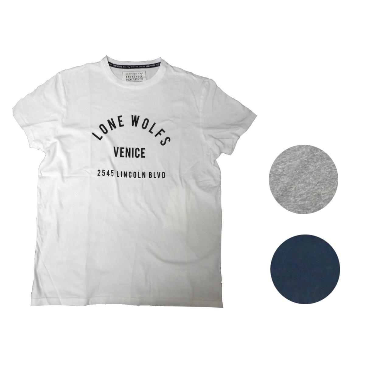 画像1: 【10%OFF】LONE WOLFS ローンウルフズ プリントTシャツ 全3色 メンズ/レディース (1)