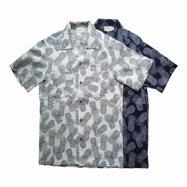 画像1: BACK HEAD バックヘッド シアサッカーオープンシャツ ビッグパイン 全2色 メンズ (1)