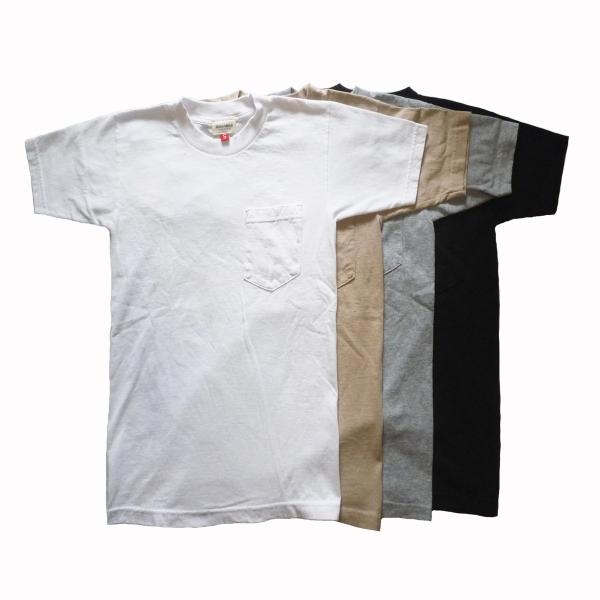 画像1: 【セール 60%OFF】BACK HEAD バックヘッド ソリッドポケットTEE ホワイト/ベージュ/グレー/ブラック メンズ (1)