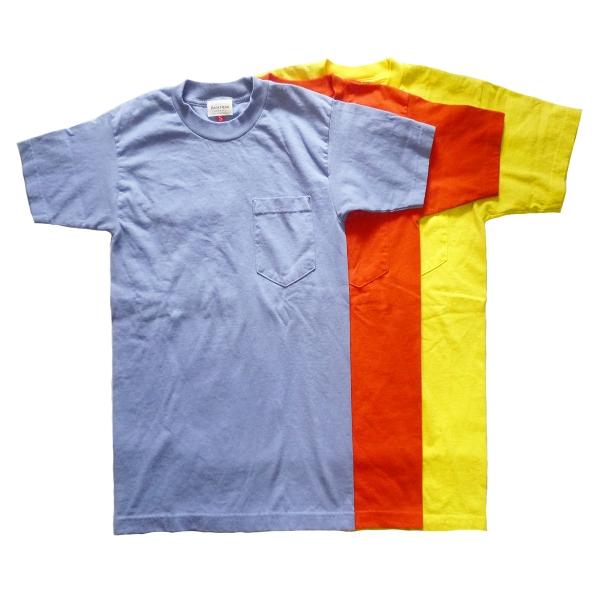 画像1: BACK HEAD バックヘッド ソリッドポケットTEE ブルー/オレンジ/イエロー メンズ (1)