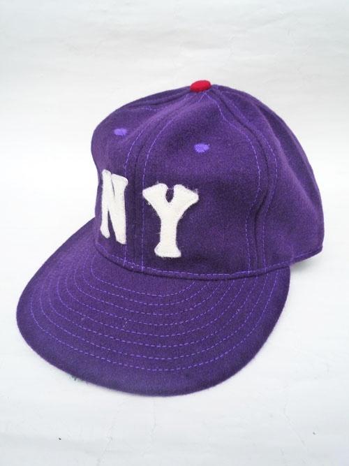 画像1: 【セール 60%OFF】EBBETS FIELD FLANNELS エベッツフィールドフランネルズ ベースボールキャップ NY BLACK YANKEES パープル ユニセックス (1)