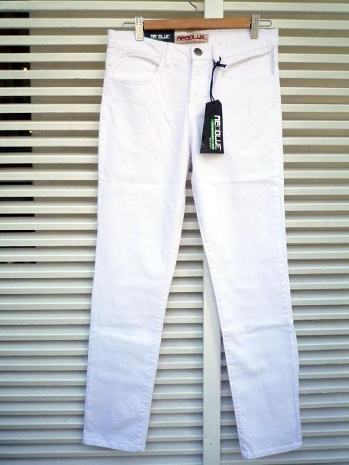 画像1: 【セール 50%OFF】NEO BLUE ネオブルー スキニーパンツ ホワイト メンズ (1)