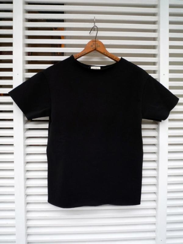 画像1: BACK HEAD バックヘッド カットオフスウェットTシャツ ブラック メンズ (1)