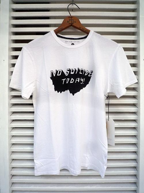 画像1: LONE WOLFS ローンウルフズ Tシャツ NO SUICIDE ホワイト メンズ (1)