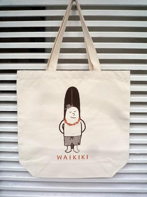 画像1: WIMINI HAWAII ウィミニハワイ WAIKIKI トートバッグ ナチュラル ユニセックス (1)