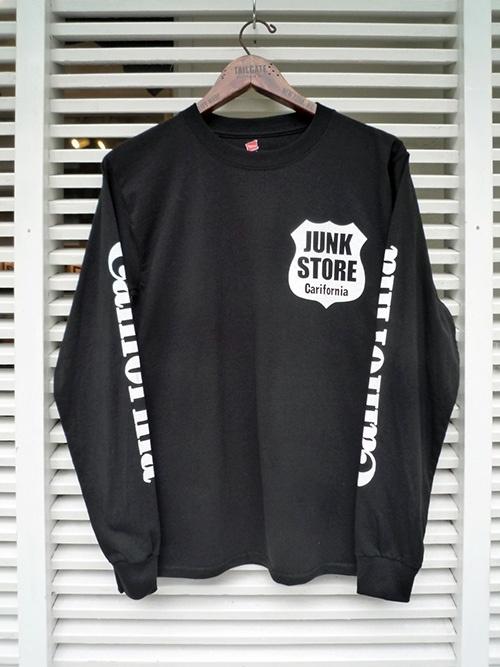 画像1: 【セール 50%OFF】Hanes ヘインズ ロングスリーブTシャツ JUNKSTORE ブラック メンズ (1)