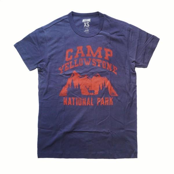 画像1: TAILGATE テイルゲート Tシャツ CAMP YELLOWSTONE ネイビー メンズ (1)
