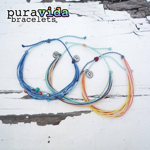 画像1: puravida bracelets プラヴィダブレスレット ビーズ+オリジナルX2 3本セット (1)