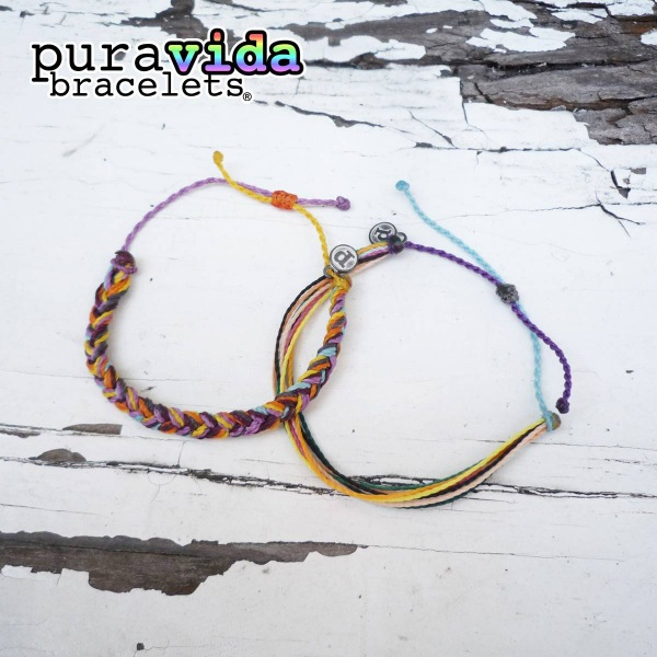 画像1: puravida bracelets ブレイデッド+オリジナル 2本セット (1)