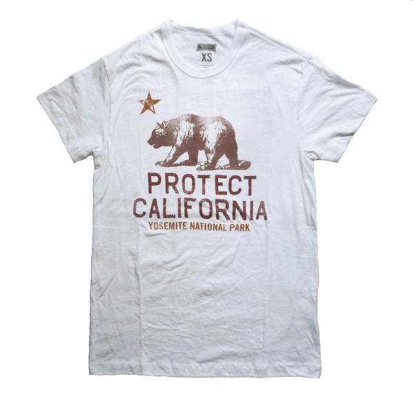 画像1: 【セール 60%OFF】TAILGATE テイルゲート Tシャツ PROTECT CALIFORNIA  ホワイト メンズ (1)