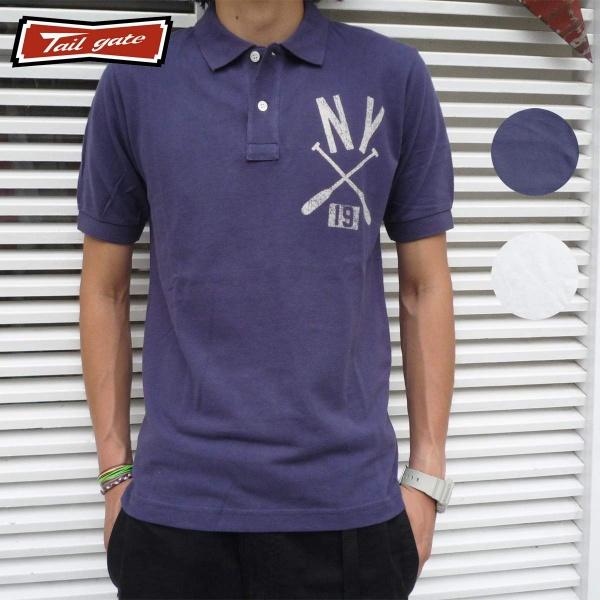 画像1: TAILGATE テイルゲート ポロシャツ NY OARS 全2色 メンズ (1)