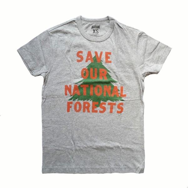 画像1: 【セール 60%OFF】TAILGATE テイルゲート Tシャツ SAVE OUR NATIONAL FORESTS グレー メンズ (1)