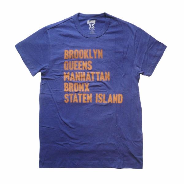 画像1: 【セール 60%OFF】TAILGATE テイルゲート Tシャツ NEW YORK BOROUGHS ブルー メンズ (1)